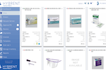 Hybrent screenshot: Shopping screen with product images