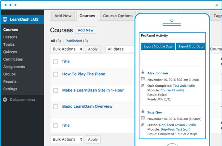 LearnDash course builder