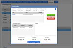 Captura de tela do SimpleConsign: SimpleConsign can be used for layaways, with the option to take minimum payments and set expiry dates