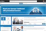 LearnUpon screenshot: Brand the learner's dashboard with promotional banners