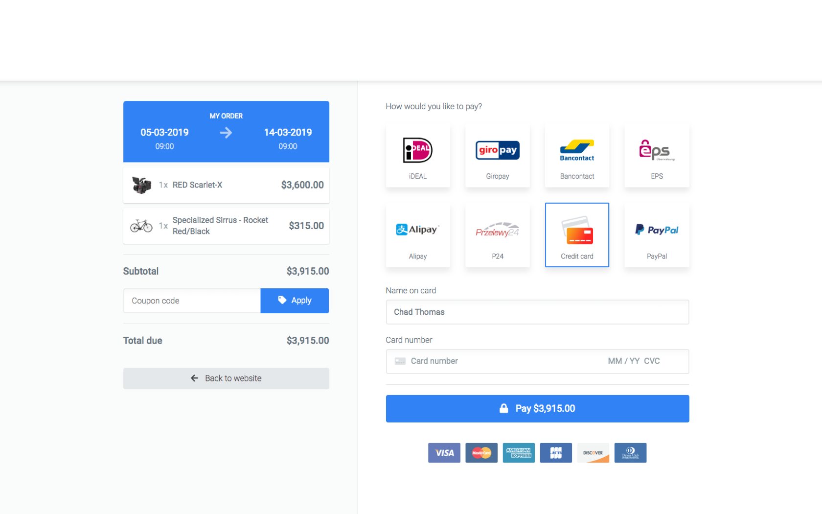 Integrate with Stripe & PayPal to accept online payments.