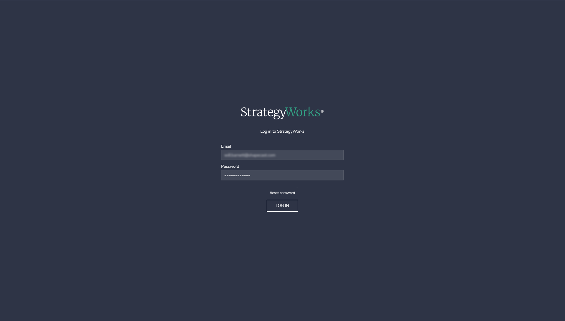 Log in to StrategyWorks