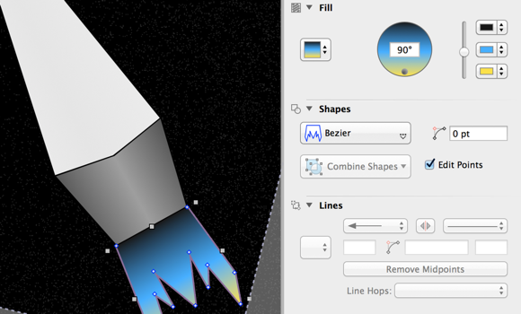 Custom tools and extra features in OmniGraffle