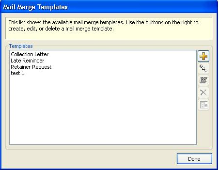 Sage Timeslips mail merge templates for client notices