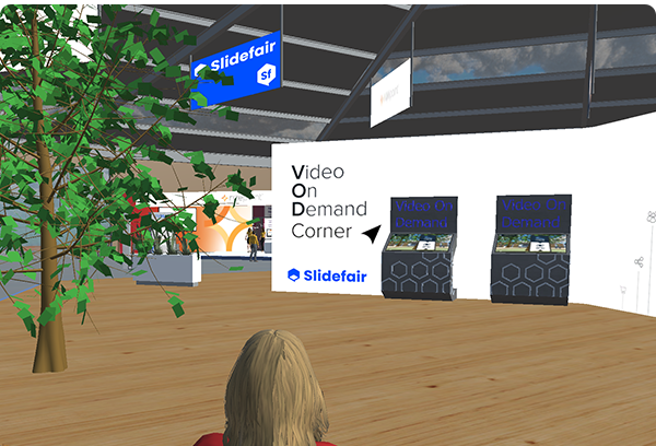 """Recorded presentations can be made available in the platform through our """"Video on Demand"""" stations."""