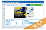 Contegro screenshot: Users can manage slide content via the web portal interface and see instant updates as they type and edit slide content with dynamic preview
