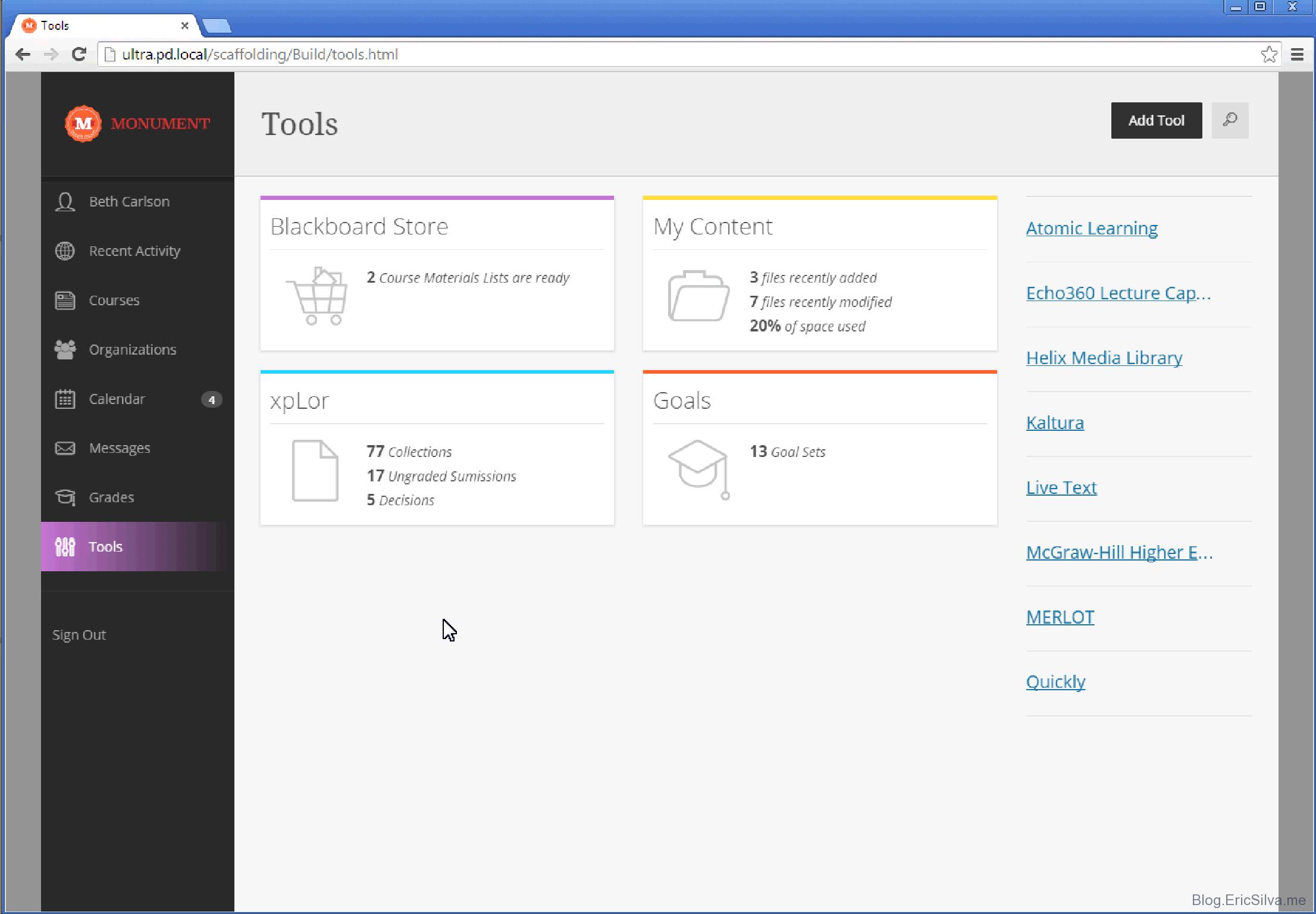 Blackboard Learn Software - Tools