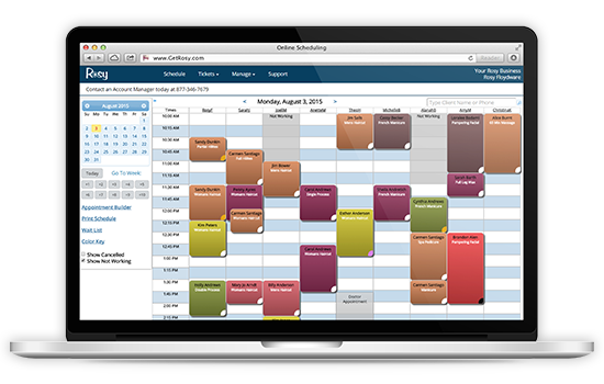 Manage appointments with Rosy salon software