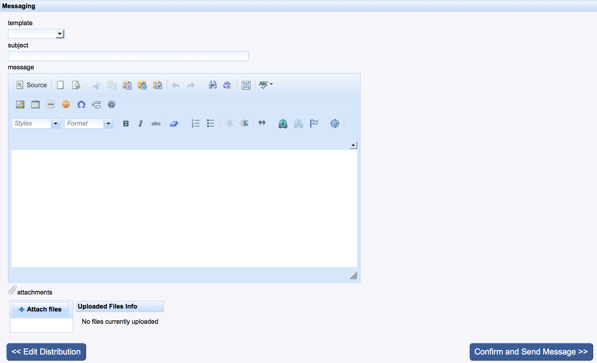 MuseMinder email messaging