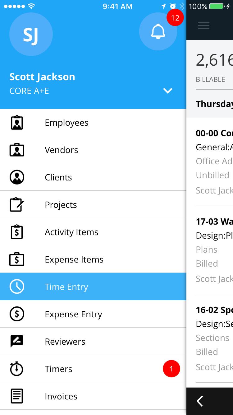 BQE Core Suite Software - Native Mobile Apps