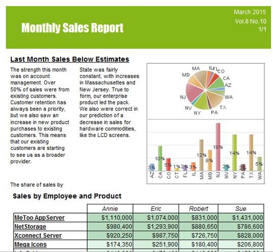 Generate customizable reports