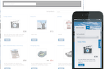 Amilia screenshot: Amilia online store home page shown on multiple devices