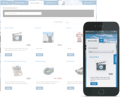 Amilia online store home page shown on multiple devices