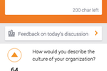 Pigeonhole Live screenshot: Audience members can post questions to speakers anonymously or with their identity