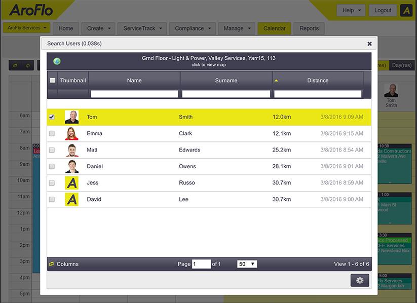 AroFlo mobile service management