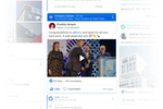 Blink screenshot: Ensure key messages rise above the noise. The News Feed ensures key messages - from compliance policies to birthdays - are delivered and read in a feed that is personalized to each individual.
