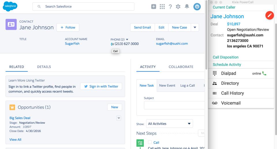 Kixie PowerCall Software - Kixie user profile