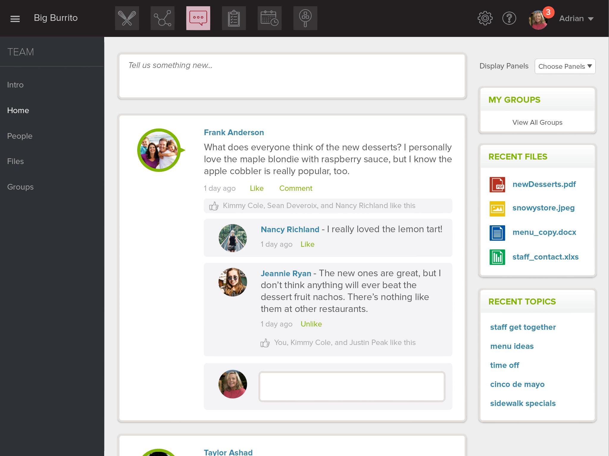 PeachWorks Software - Employee collaboration