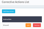 FreshCheq screenshot: Employees have the opportunity to implement corrective actions for failed checks
