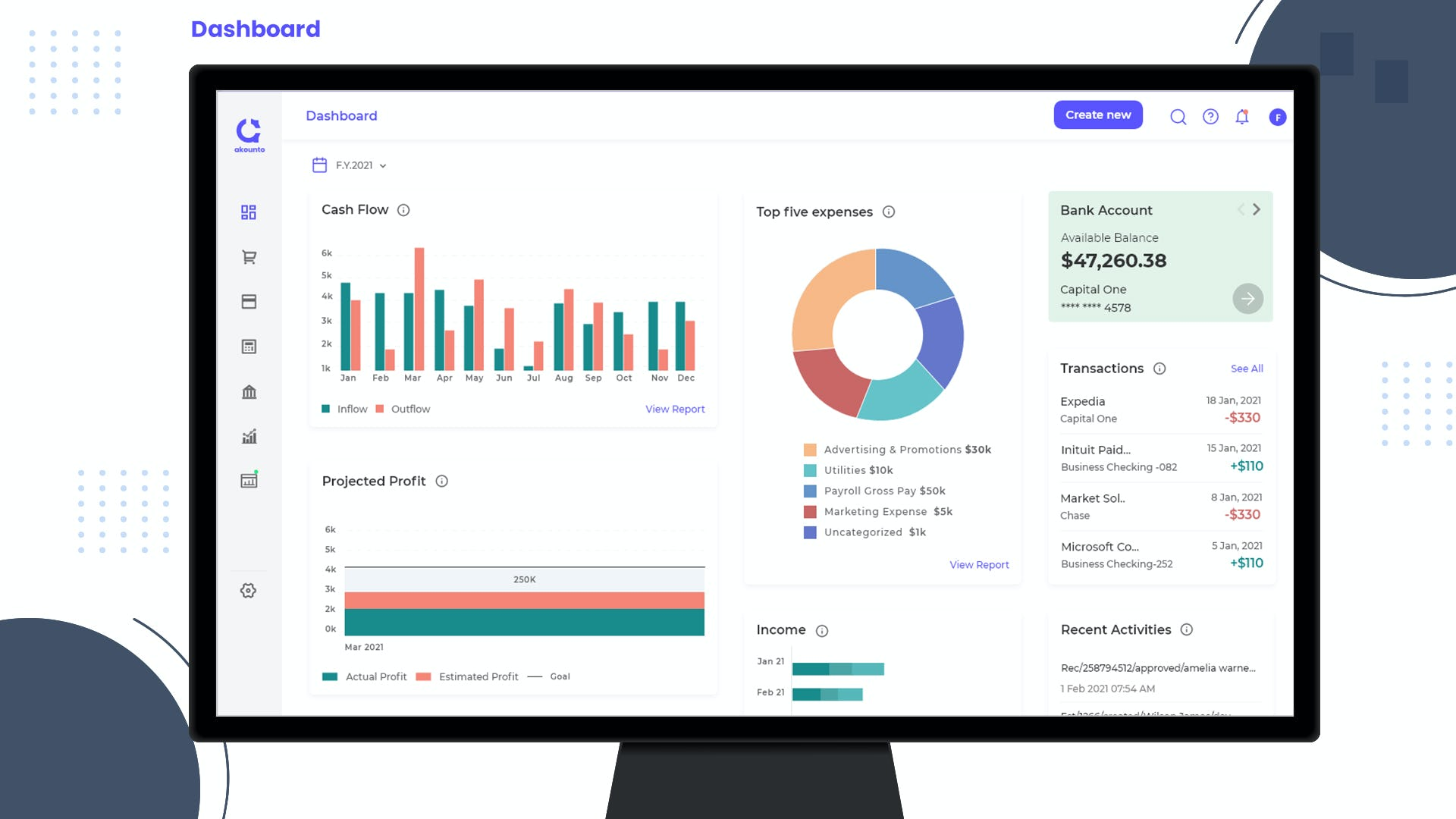 Akounto Software - Real-time cash flow & profit tracking