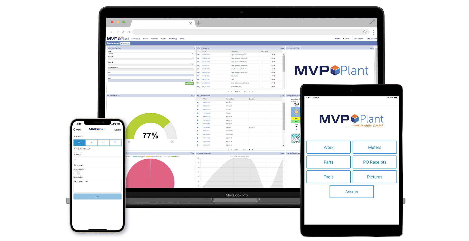 MVP Plant web-based CMMS software