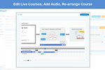 Mindflash screenshot: Mindflash allows users to edit live courses, insert audio and arrange courses