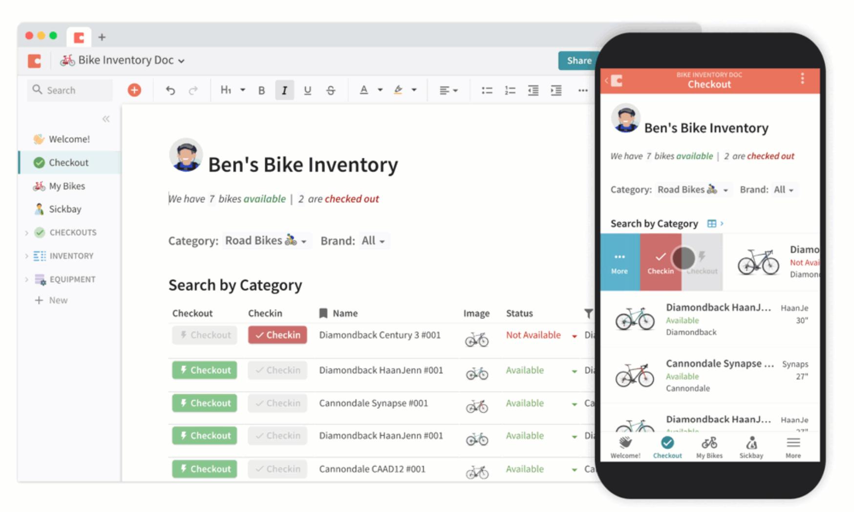 Coda inventory tracking
