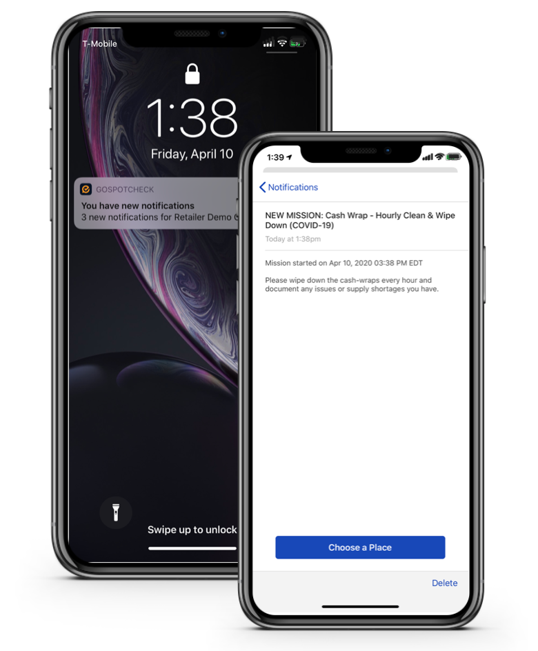 Notify users of new tasks to complete on mobile with easy-to-spot push notifications that alert busy teams on the sales floor & keep them focused on the priorities that matter & serving customers.