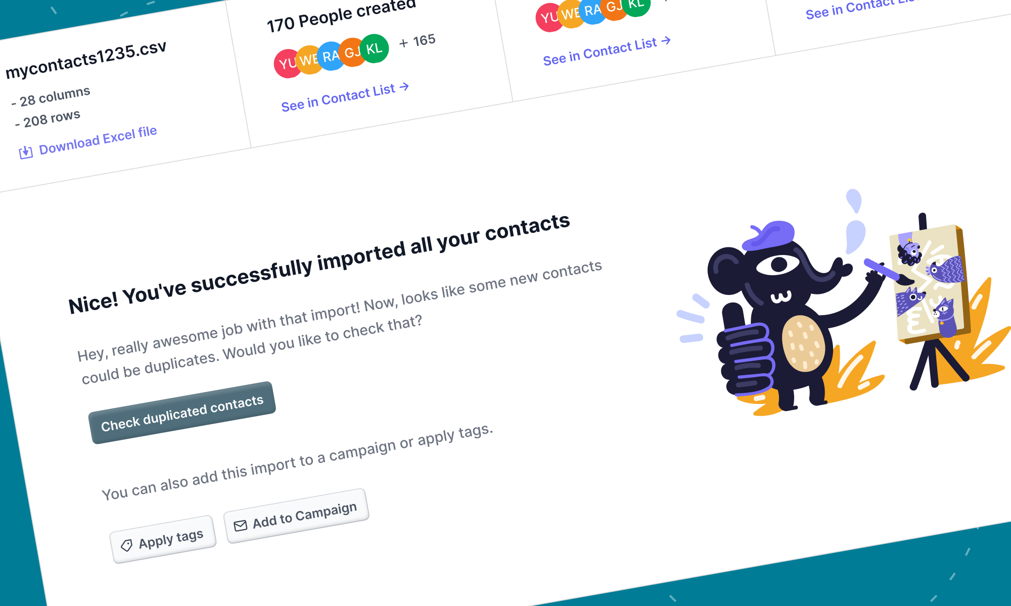 Import all your contact lists, merge duplicates & weed out bad emails