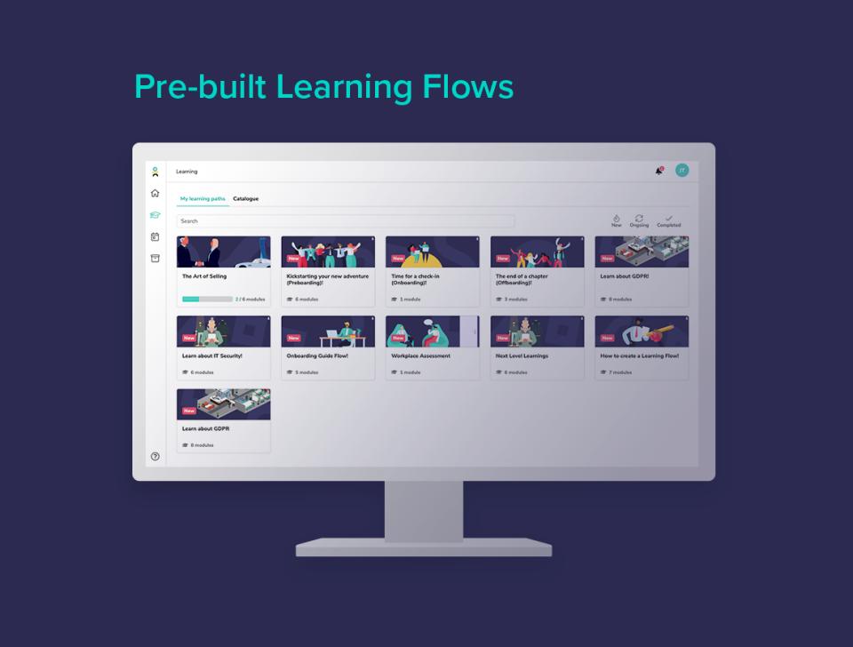 Pre-built content