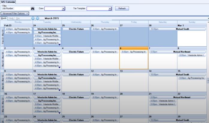 WinTeam calendar