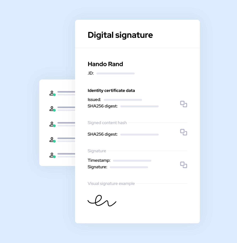 Immutable advanced electronic signatures