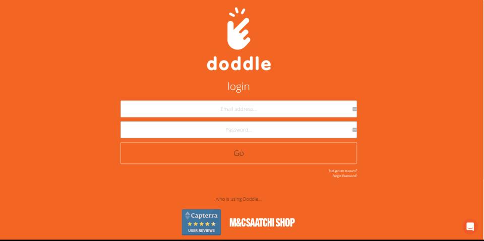 Doddle branded login pages