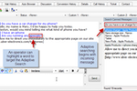 Bold360 screenshot: An operator can highlight a word to target the adaptive search