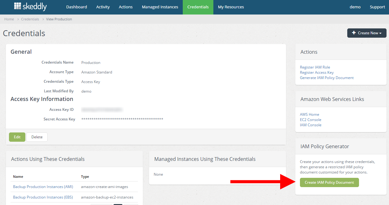 Create personalized IAM policies