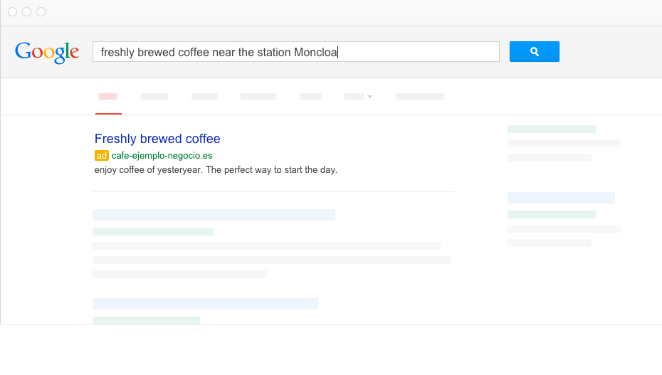 Google AdWords display ads in search results