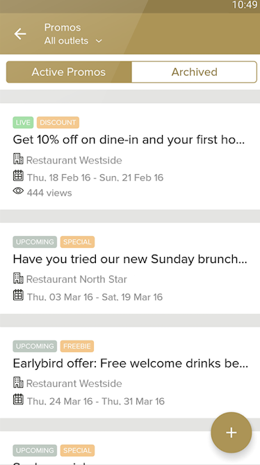 Zomato for Business manage promotions