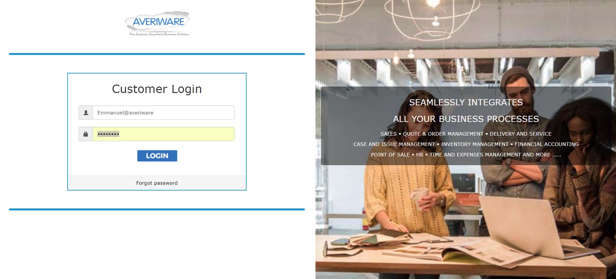 Averiware Software - Averiware Online Portal