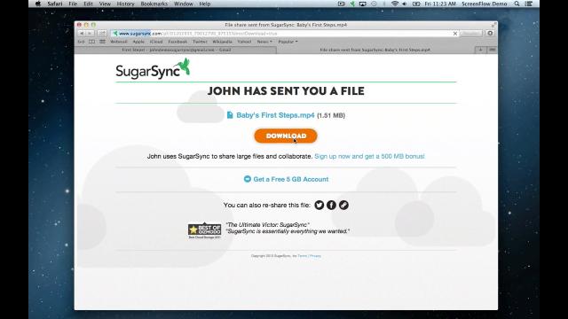 SugarSync Software - SugarSync video sharing