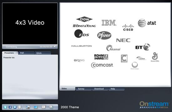 Onstream Meetings visual media templates