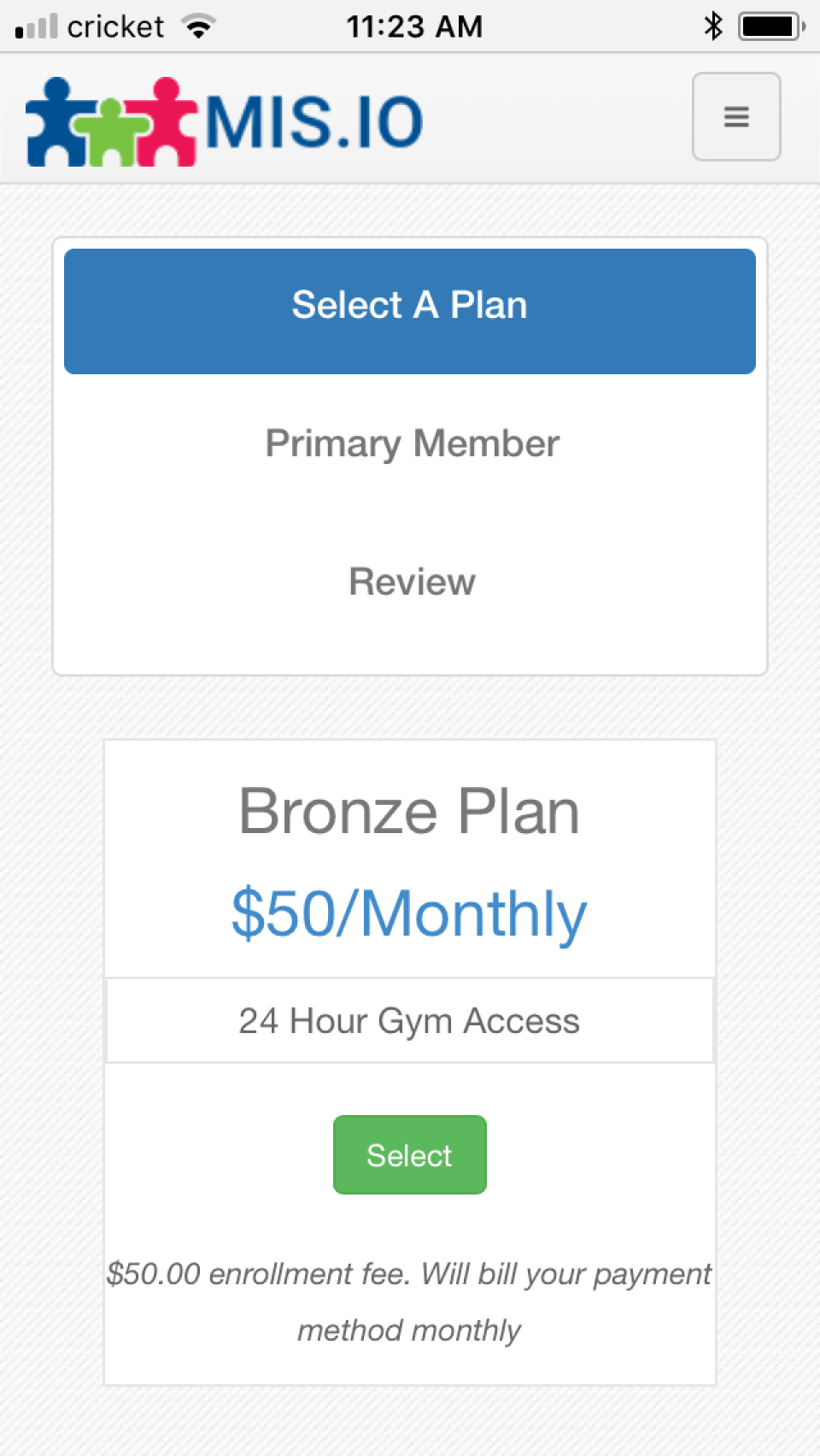Membership Integrity System membership plans