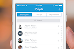 Planday screenshot: App: Easy access to employee contact information