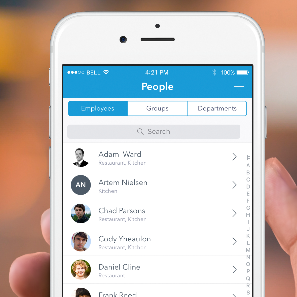 App: Easy access to employee contact information