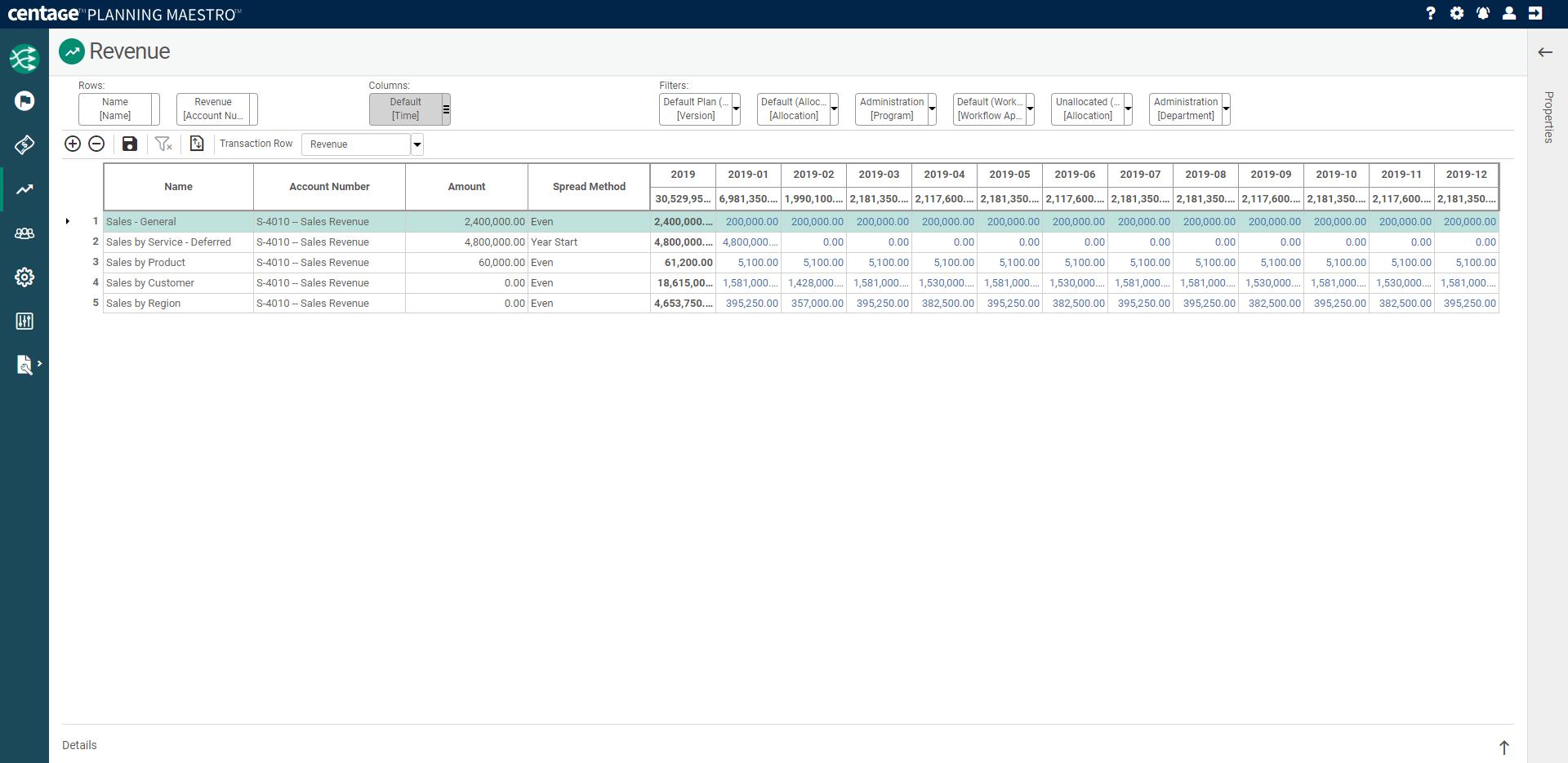 Planning Maestro Software - Revenue Planning