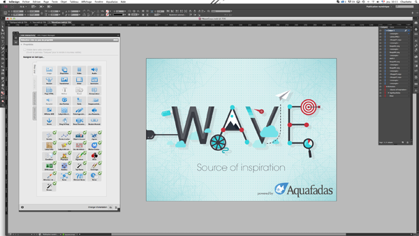Through the Aquafadas plugin, users can use InDesign to create custom, feature-rich content and add interactivity