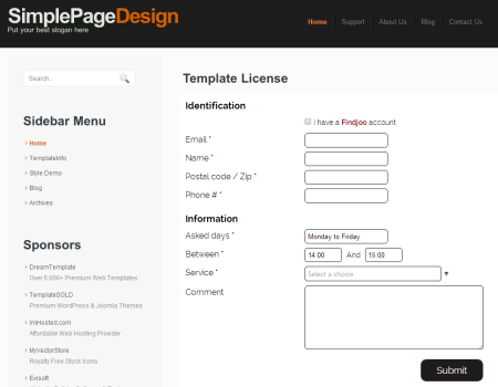 Create customized registration forms to add to the company website