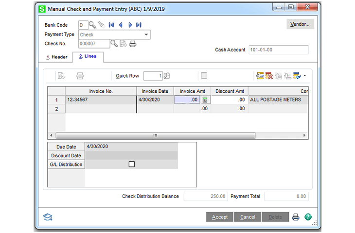 Sage 100cloud automatic calculations