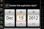 ADrive screenshot: ADrive share files