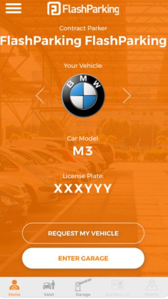 FlashPARCS Software - FlashPARCS parking request