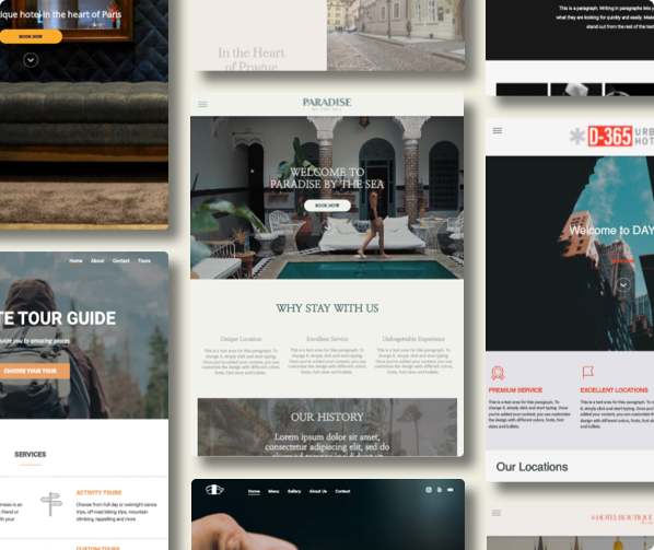 Beautifully designed templates. Choose from our rich library of designer created, responsive templates for the best website experience for your guests.